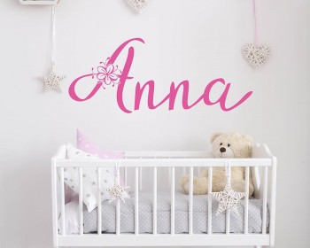Personalized Names Blossom Wall Decal