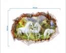 3D Effect Unicorn Landscape Wall Decal