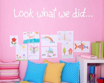 Look what we did Wall Decal