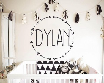 Personalized Arrow wall decal