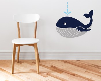 Lovely Whale Animal Friends Nursery Decal Animal Stickers