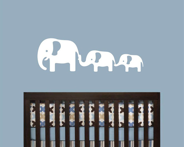 Elephants Family Wall Decal