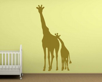 Giraffe Family Deep Mother Love Wall Decal Animal Stickers For Nursery