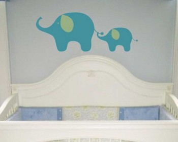 Elephants Wall Decal Animal Stickers For Nursery