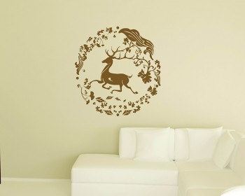 Christmas Deer Decal Lovely Animal Wall Stickers