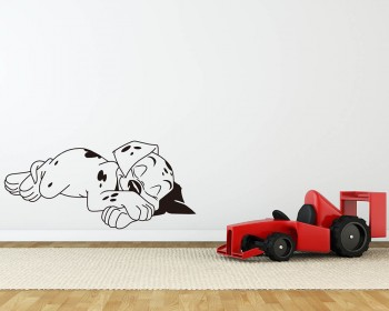 Sleeping Dog Decal Lovely Animal Stickers For Nursery