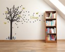 Tree Wall Decal with Birds Leaves & Customized Name