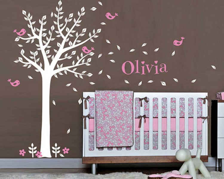 Tree Wall Decal with Customized Name