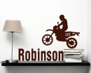 Motorcycle Boy Customized Name Vinyl Decal For Nursery