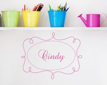 Customized Name with Frame Vinyl Decals Nursery Name