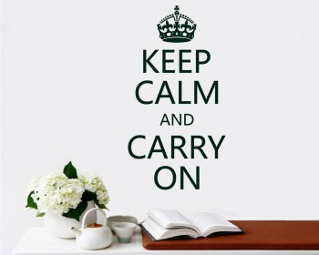 Keep Calm and Carry On Quotes Vinyl Lettering Decal