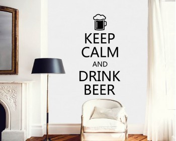Keep Calm and Drink Beer Quotes Vinyl Lettering Decal