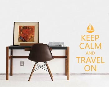 Keep Calm and Travel On Quotes Vinyl Lettering Decal