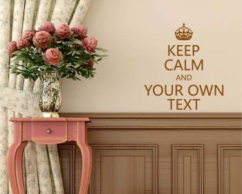 Keep Calm Customize Your Own Quotes Vinyl Lettering Decal