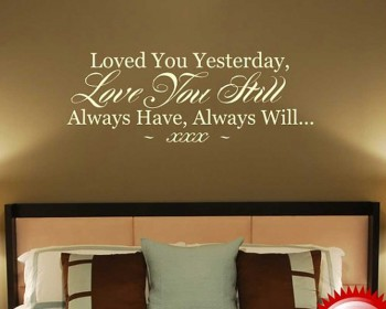 Love You Quotes Customized Name Quote Decal