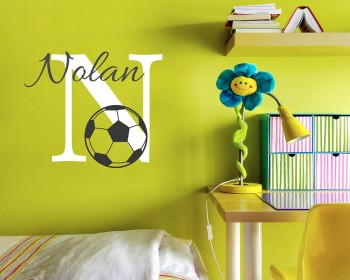 Personalized Football Wall Decal 34w x 19h