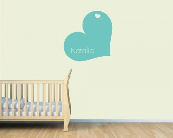 Heart Customized Name Vinyl Decal Nursery Sticker
