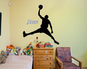 Basketball Man Customized Name Decal For Children