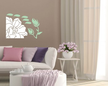 Beautiful Flowers Cabinet Decor Vinyl Wall Art Decal