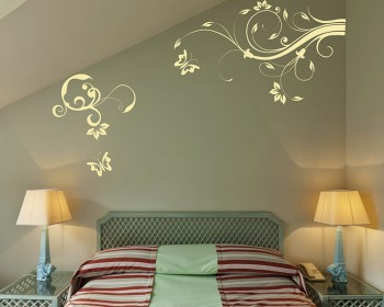 Floral Vines and Branches Vinyl Decals Modern Wall Art