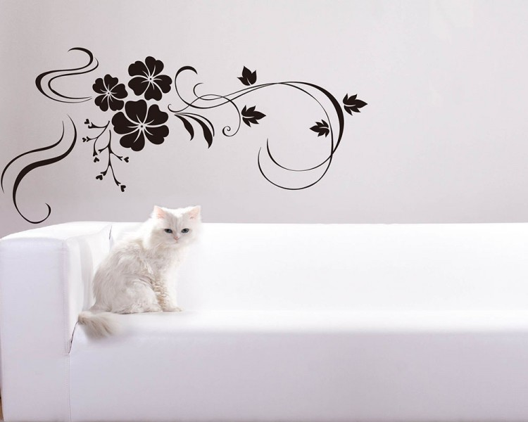 Beautiful Flowers Wine Decal