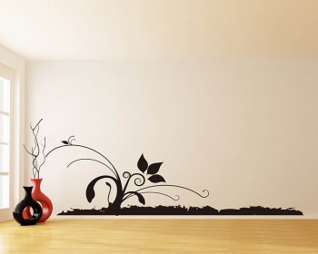 Wall Border Floral Vines Vinyl Decals Modern Wall Art