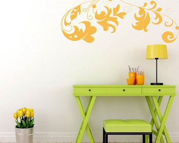 Beautiful Floral Vines Vinyl Modern Wall Art Decal