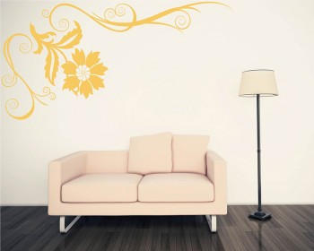Beautiful Floral Vines Modern Wall Art Decals