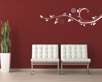 Beautiful Floral Vines Modern Vinyl Wall Art Decal