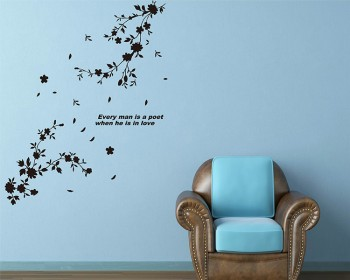 Flowers in Bloom Vinyl Decals Modern Wall Art