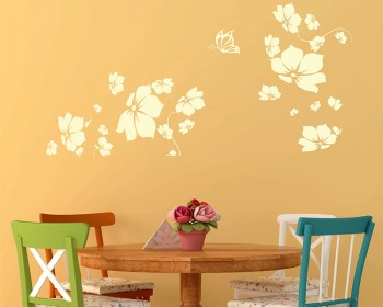 Flowers Blossom Vinyl Decals Modern Wall Art