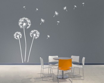 Dandelion Vinyl Wall Art Decals Modern Wall Art