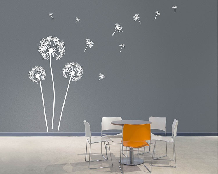 Marvelous Dandelion Wall Decal. Dandelion Vinyl Wall Art ...