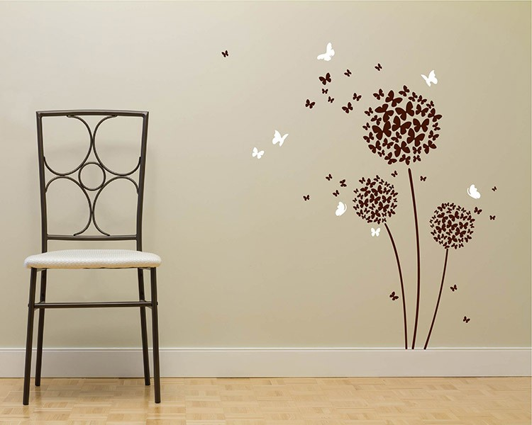 beautiful butterfly flowers vinyl wall decals