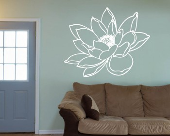 Water Lily Flower Vinyl Decals Modern Wall Art