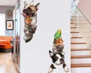 Cute Stacked Animals Wall Stickers
