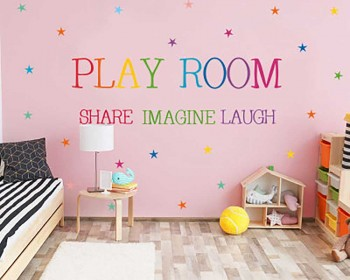 Play Room Wall Stickers with Stars