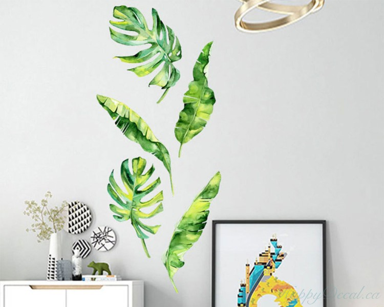 A Set of 5 Tropical Leaves