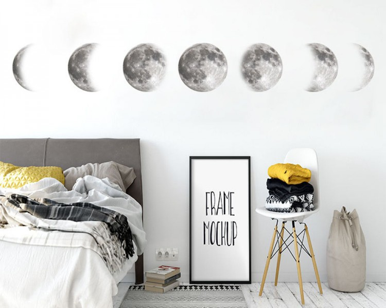 Lunar Cycle Astronomy Stickers