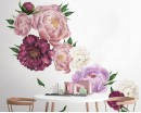 Watercolor Print Peony Flowers Wall Stickers