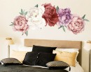 Set of 5 Self Adhesive Peony Floral Wall Decals