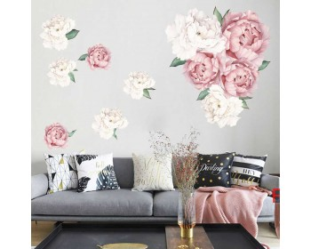 Elegant Peony Blossoms for Nursery and Living Room Decor