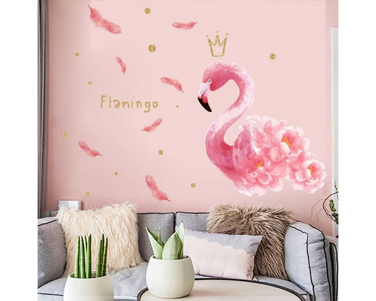 Chic Flamingo Wall Stickers