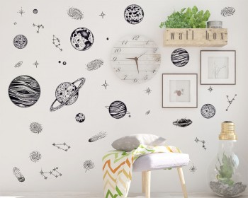 Solar System Wall Stickers For Kids Rooms