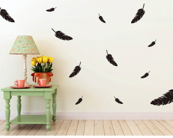 A Set of Feathers Vinyl Decals Modern Wall Art Sticker