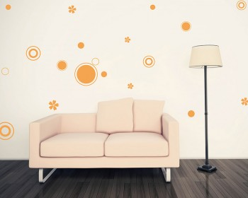 Circles Pattern Vinyl Wall Decals Modern Wall Art Sticker