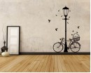 Street Lamp Bicycle Vinyl Decals Modern Wall Art Sticker