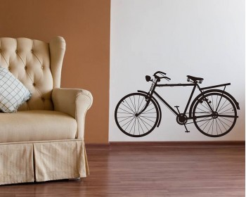 Bicycle Vinyl Decals Modern Wall Art Sticker