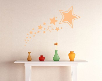 A Set of Stars Vinyl Decals Modern Wall Art Sticker