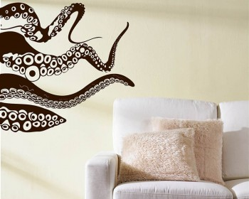 Octopus Vinyl Decals Modern Wall Art Sticker